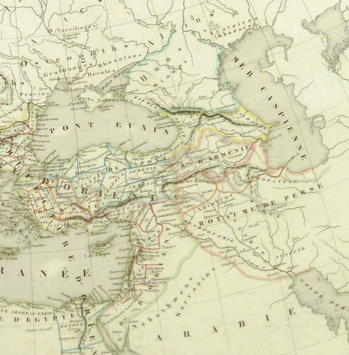 Roman Empire Map, 1845-detail-9404K