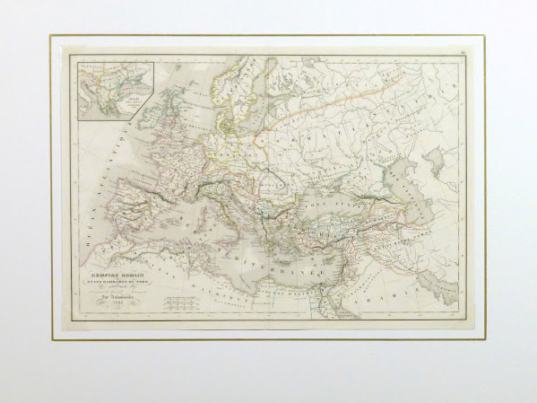 Roman Empire Map, 1845-matted-9404K