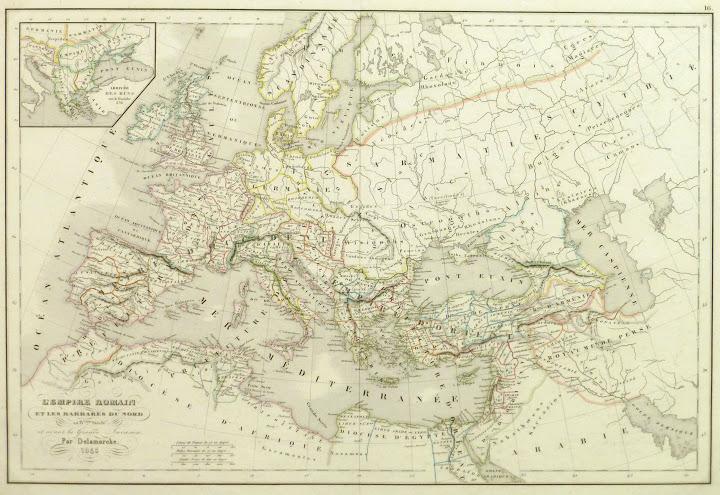 Roman Empire Map, 1845-main-9404K