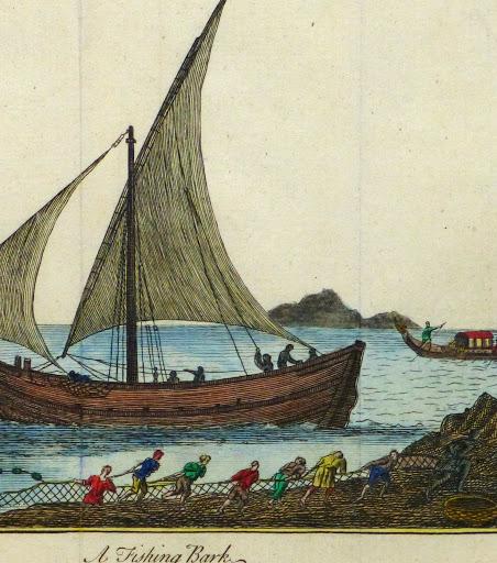 Net Fishing Engraving, Circa 1780-detail-9502K