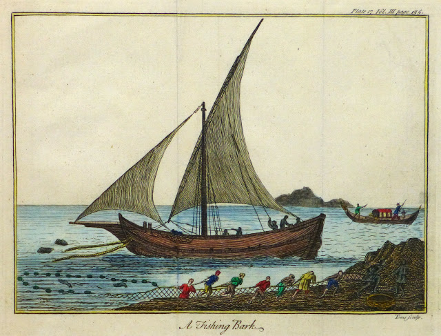 Net Fishing Engraving, Circa 1780-main-9502K