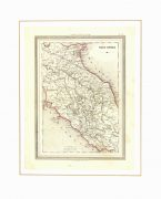 Central Italy Map, 1885-matted-7248K