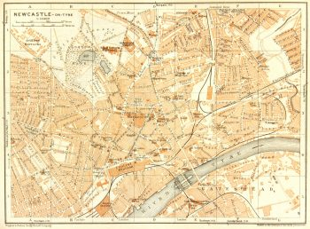 Newcastle England Map, 1927-main-7320K