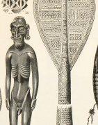 Pacific Islander Culture Print, Circa 1880-detail-7423K