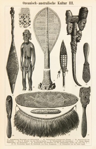Pacific Islander Culture Print, Circa 1880-main-7423K