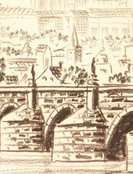 Prague Print, Circa 1960-detail-7906K