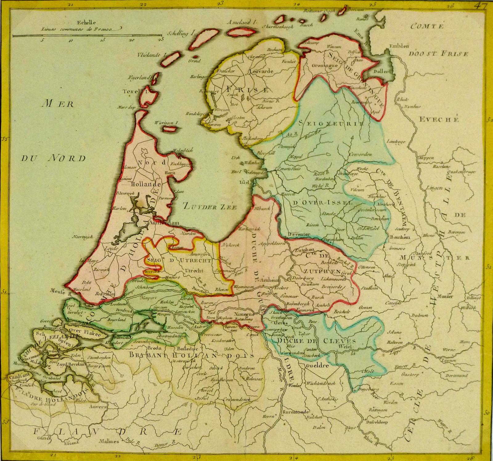 Map of Holland, 1767-main-8118K