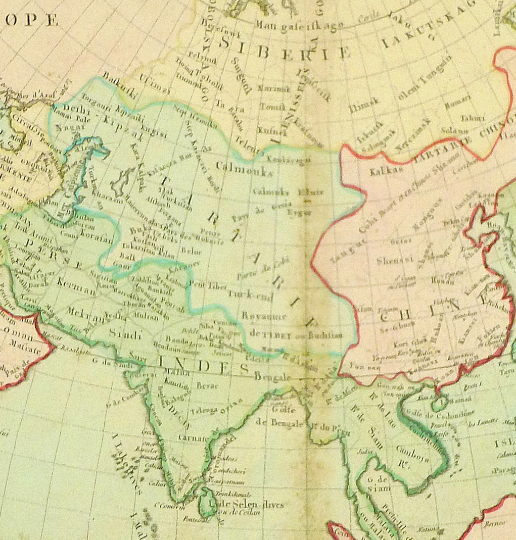 Map of Asia, 1767-detail-8122K