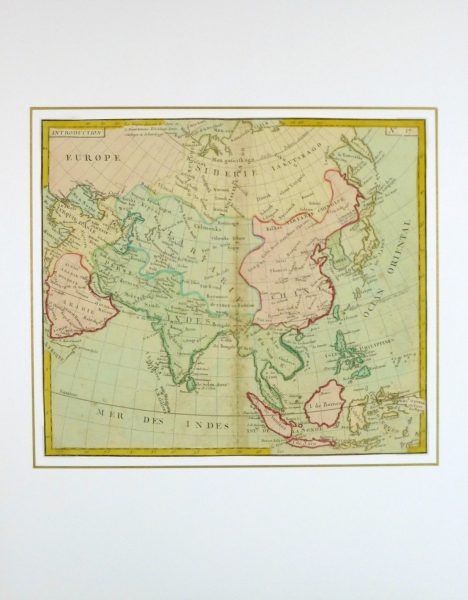 Map of Asia, 1767-matted-8122K