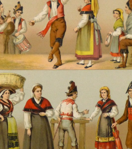 Clothing of Galicia Spain Print, 1888-detail-8171K