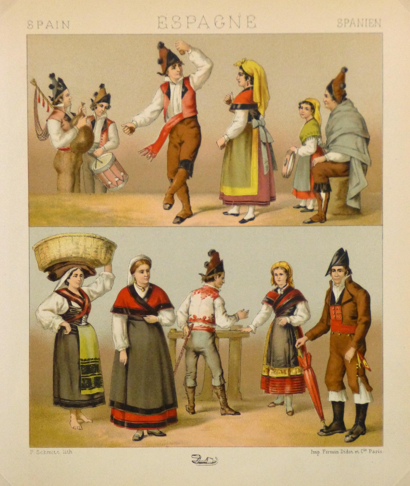 Clothing of Galicia Spain Print, 1888-main-8171K