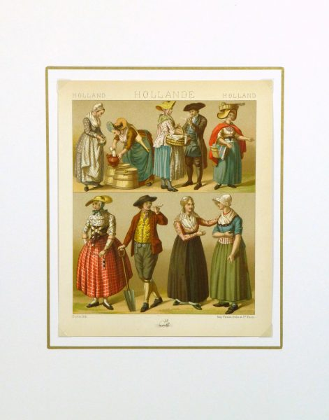 Clothing of Galicia Holland Print, 1885-matted-8175K