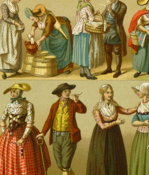 Clothing of Galicia Holland Print, 1885-detail-8175K