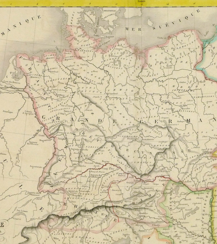 Ancient Germany Map, 1838   Original Art, Antique Maps & Prints