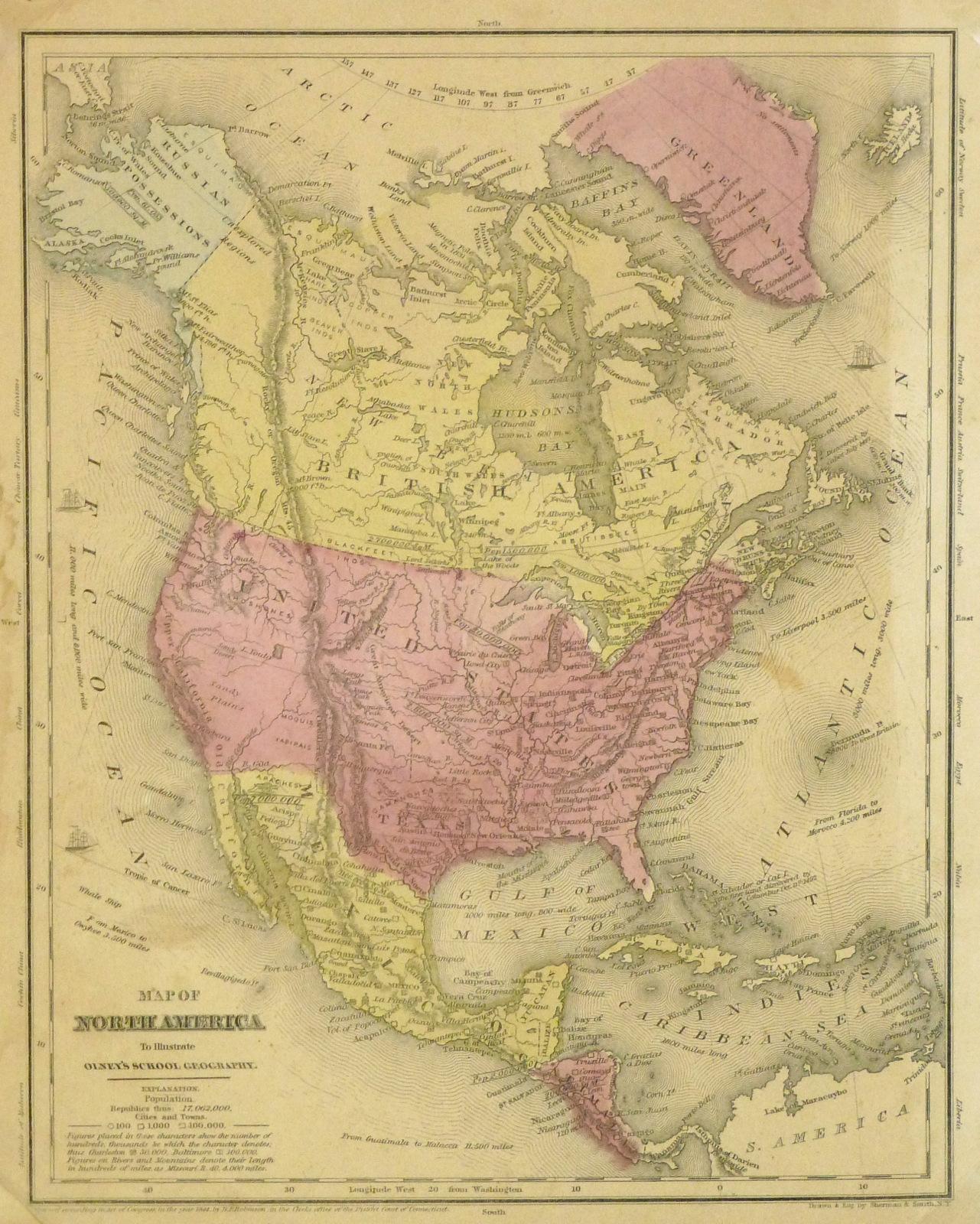 United States Map, 1848-main-8194K