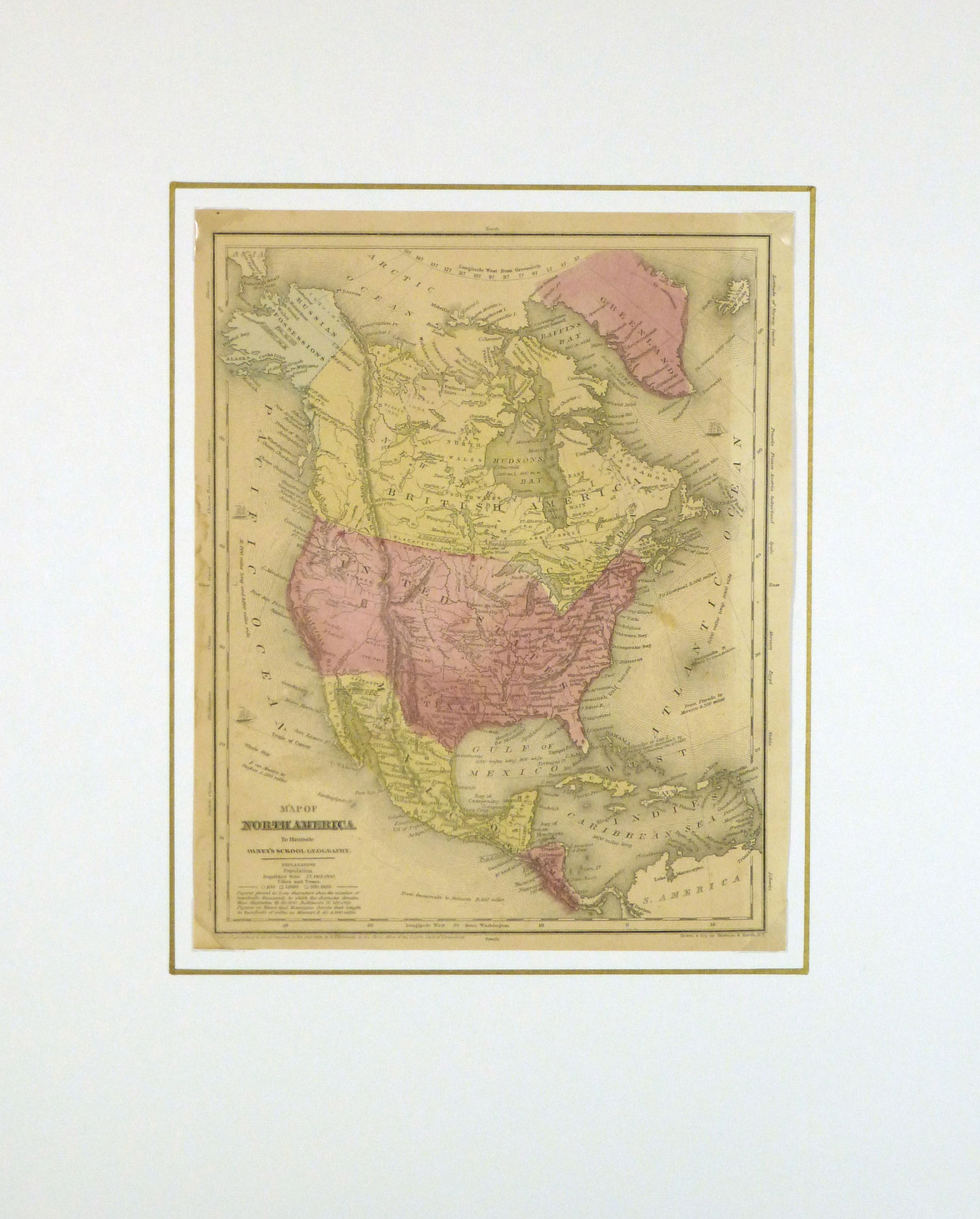 United States Map, 1848-matted-8194K