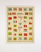 World Flags Print, 1890-matted-8199K