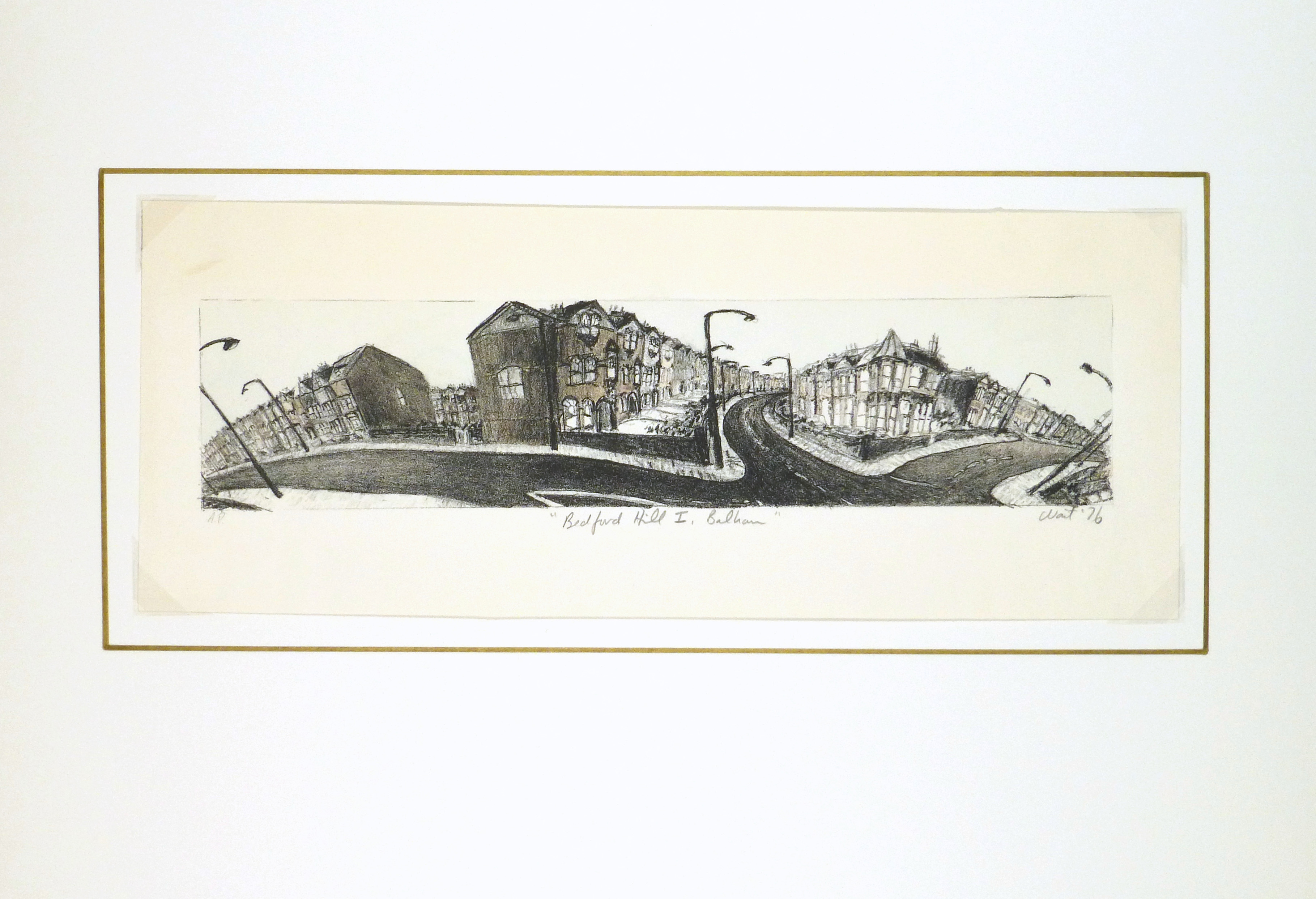 Bedford Hill Print, 1976-matted-8277K