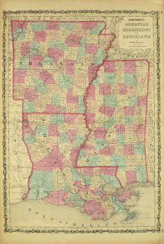 Arkansas, Mississippi & Louisiana Map,1862-main-8300K