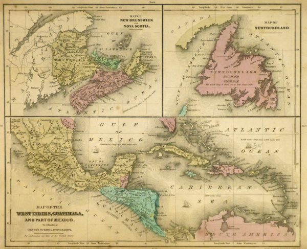 Map of West Indies & Islands, 1844-main-8560K