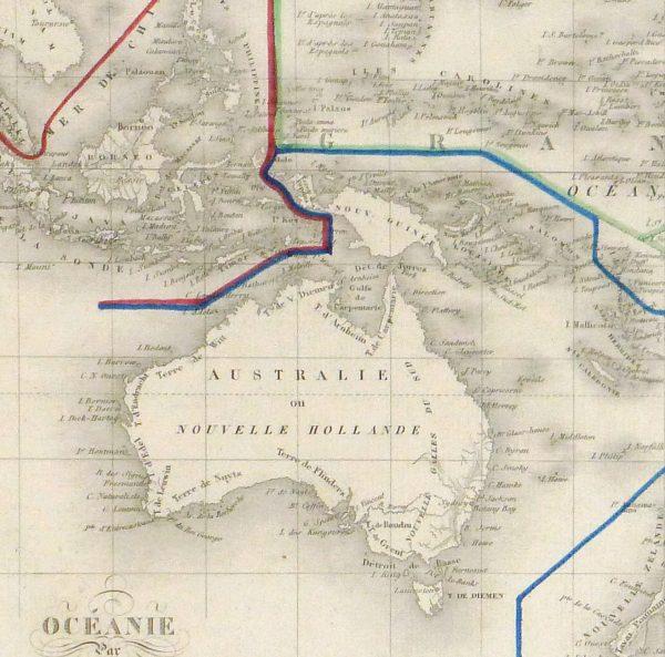 Pacific Ocean Map, 1842-detail 2-8829K