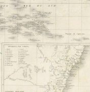 Pacific Ocean Map, 1842-detail-8829K