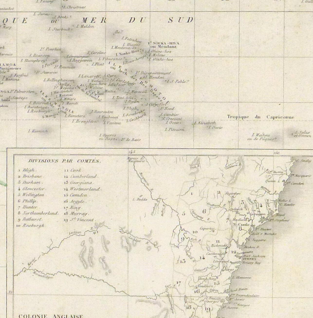 Pacific Ocean Map, 1842-detail-8829K