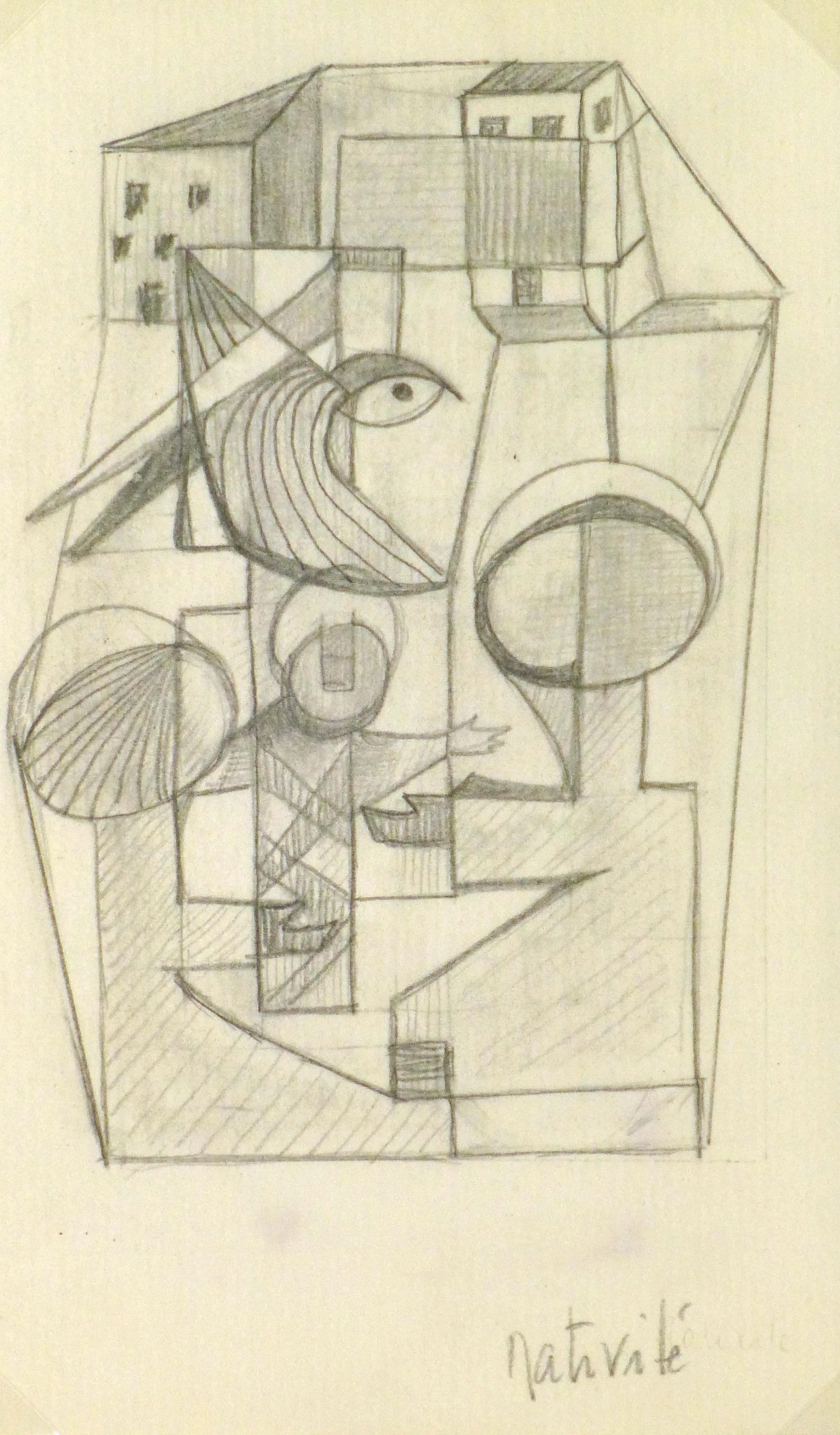 Abstract Drawing - Nativité, Circa 1930-main-9161K