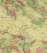 Roman Empire Map, 1868-detail-9361K