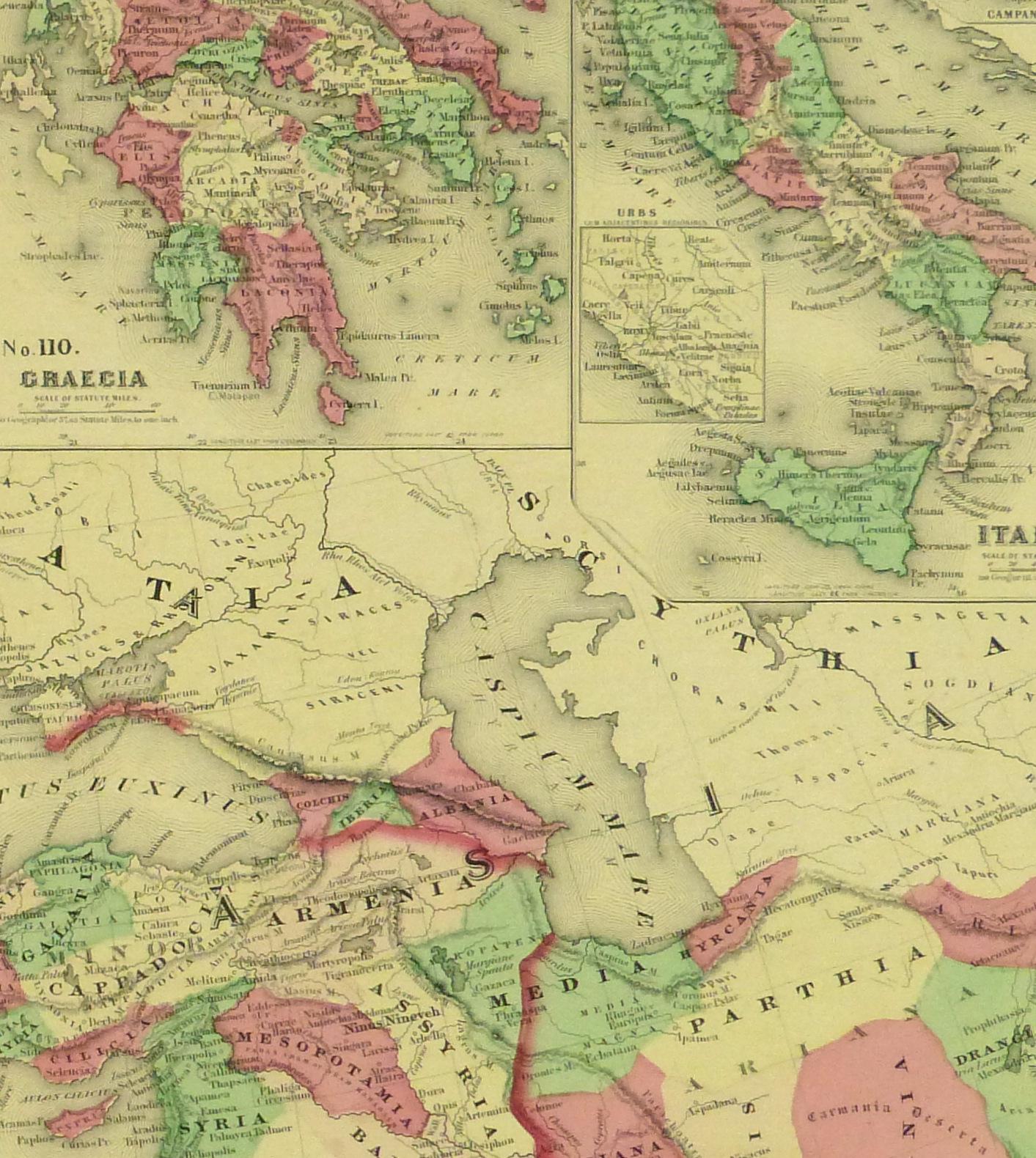 Roman Empire Map, 1868-detail-9361K