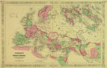 Roman Empire Map, 1868-main-9361K