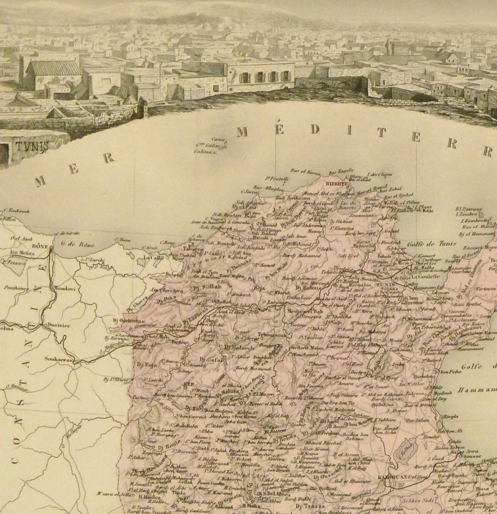 Tunisia Map, 1904-detail 2-9366K