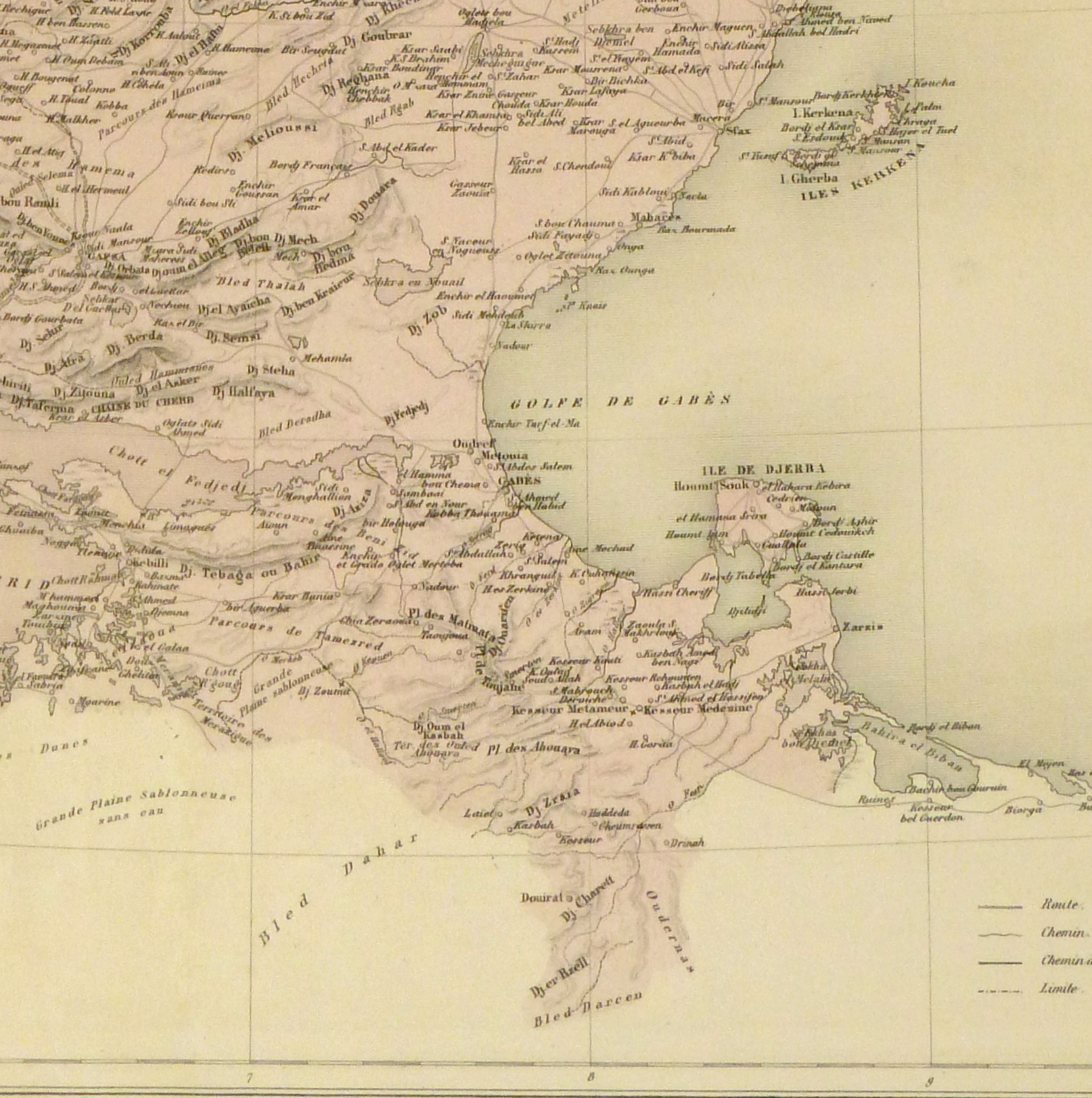 Tunisia Map, 1904-detail-9366K