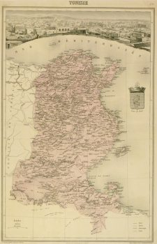 Tunisia Map, 1904-main-9366K