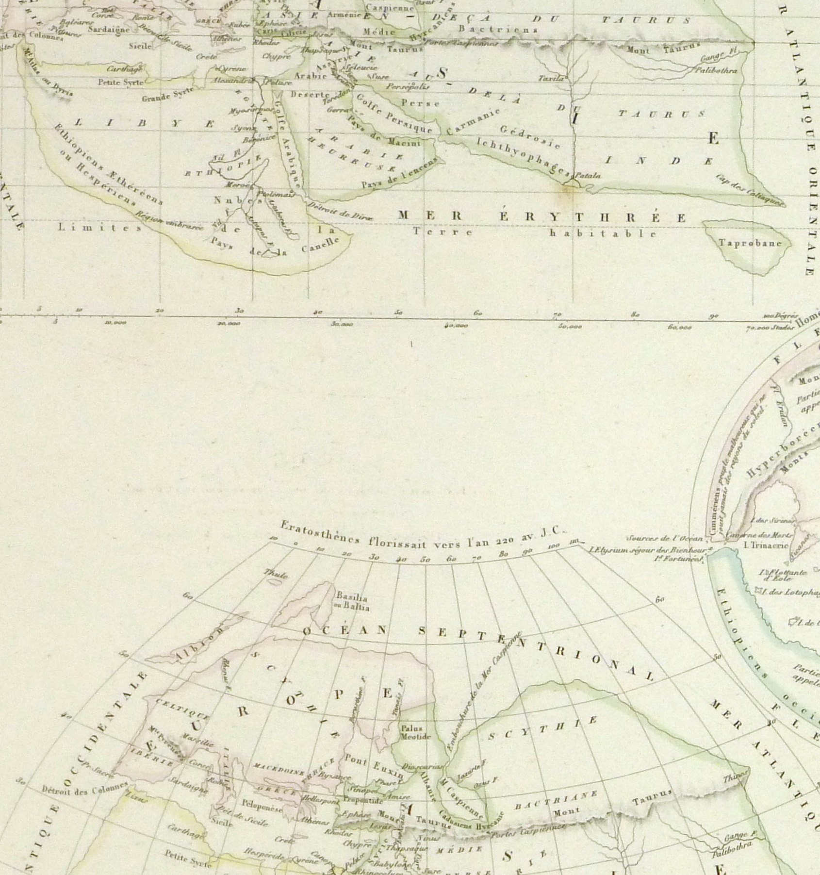 Ancient Greek Geography Map, 1838-detail 2-9368K