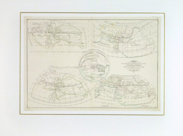 Ancient Greek Geography Map, 1838-matted-9368K