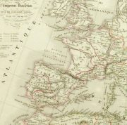 Roman Empire Map, 1845-detail 2-9389K