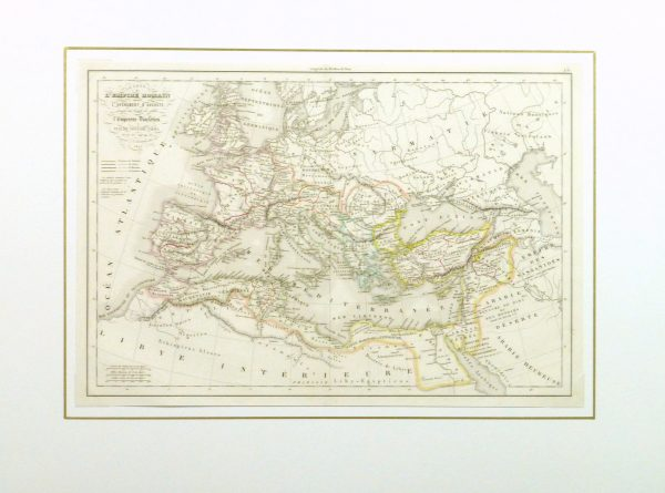 Roman Empire Map, 1845-matted-9389K