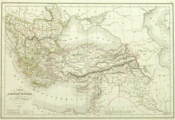 Vintage Ottoman Empire Map, 1845-main-9390K