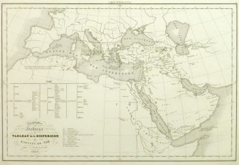 Vintage Hebrew Geography Map, 1844-main-9394K