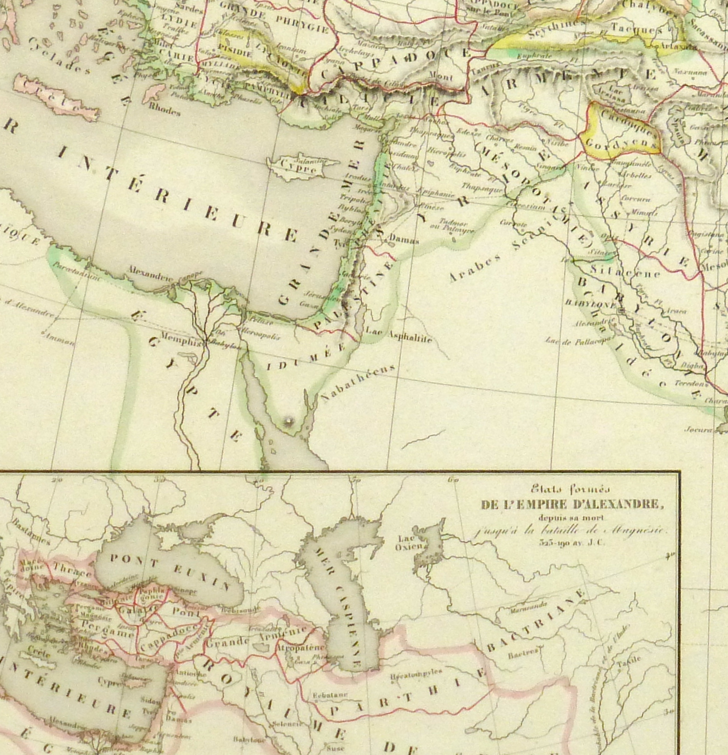Alexander the Great Map, 1845-detail 2-9398K
