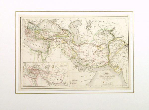 Alexander the Great Map, 1845-matted-9398K