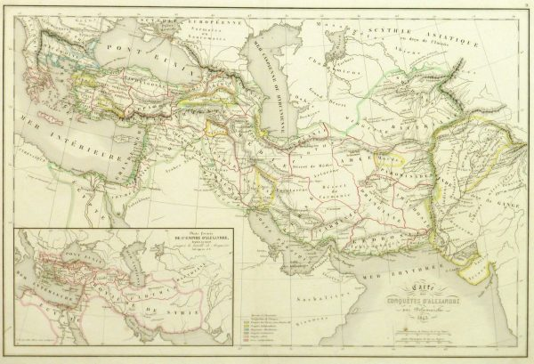 Alexander the Great Map, 1845-main-9398K