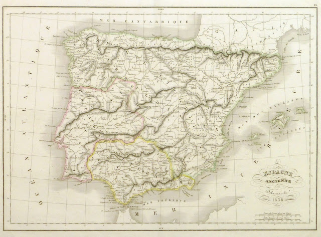 Map Of Ancient Spain 1838 Original Art Antique Maps Prints