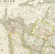 Map of Asia, 1845-detail 2-9402K
