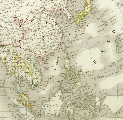 Map of Asia, 1845-detail-9402K