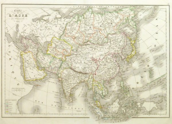 Map of Asia, 1845-main-9402K