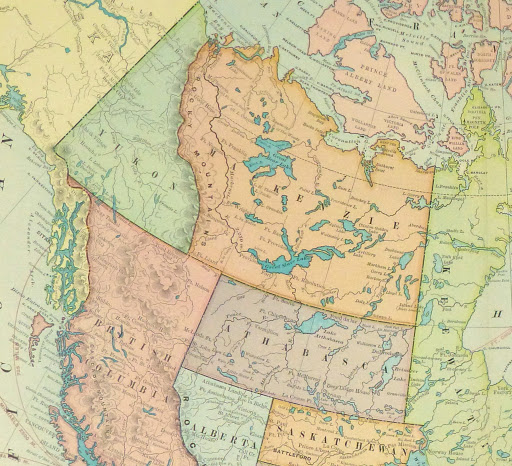 Canada Map, 1899-detail 2-9430K