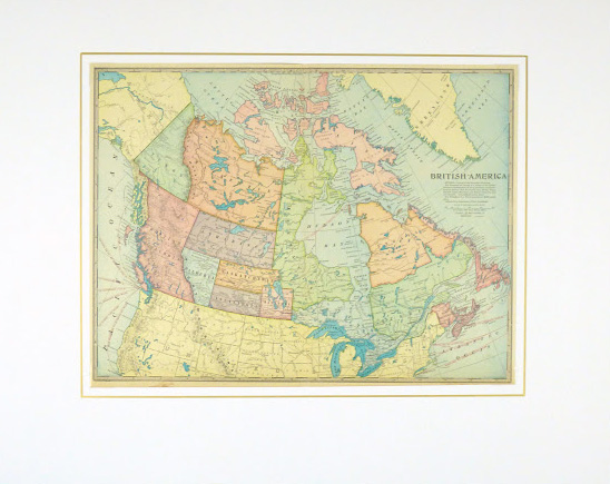 Canada Map, 1899-matted-9430K
