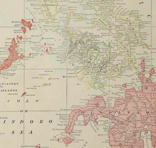 Map Philippine Islands, 1916-detail-9445K